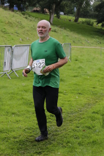 Dave storming in to the finish