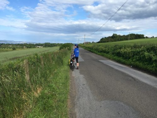 Cycling back from Bo'Ness