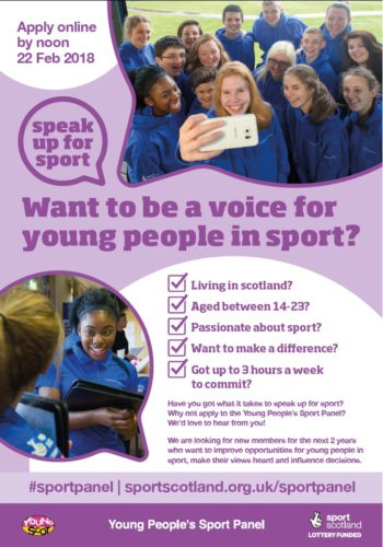 Young People In Sport Poster